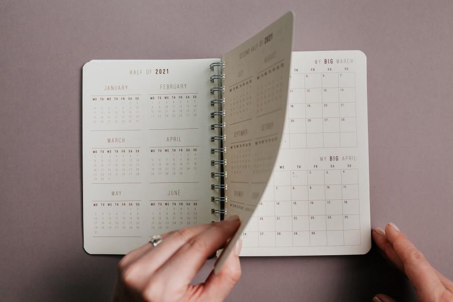 2021 weekly planner RAINBOW
