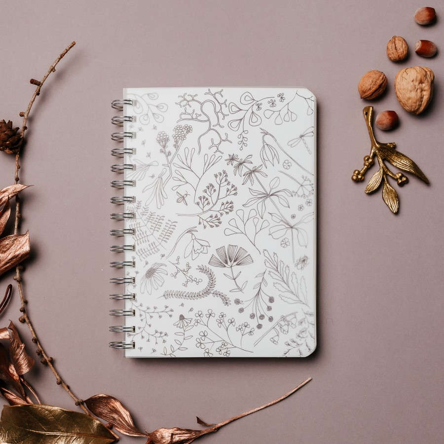 2021 Weekly Planner - Botanical Floral Herbal Illustration