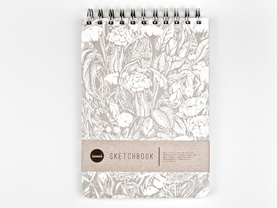 Stylish sketchbook with 3 different types of paper
