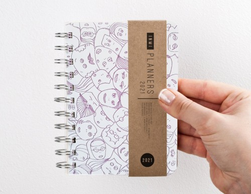 "Small 2021 weekly planner - diary ""Faces"""