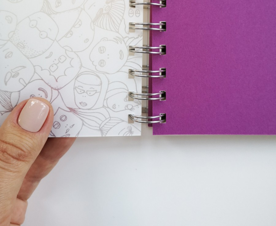"""Small 2021 weekly planner - diary """"Faces"""""""